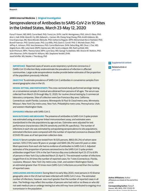 コロナウイルスの抗体価とアメリカ.jpg